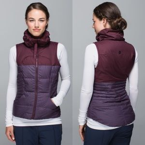 Lululemon Fluffin Awesome Vest Gin Gin Gingham 8